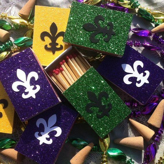 Mardi Gras Wedding Ideas: 10 Mardis Gras New Orleans Themed Matchbox Wedding By