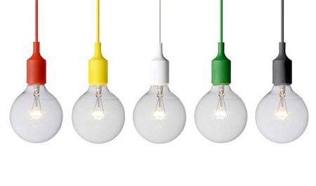 Modern Scandinavian Design Muuto Pendant Light Fixtures Colored Light Bulbs Pendant Light