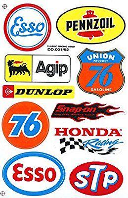 Amazon Com Sponsor Motocross Racing Tuning Motorbike Decal Sticker Sheet C214 Automotive Racing Stickers Motorcycle Stickers Retro Logos