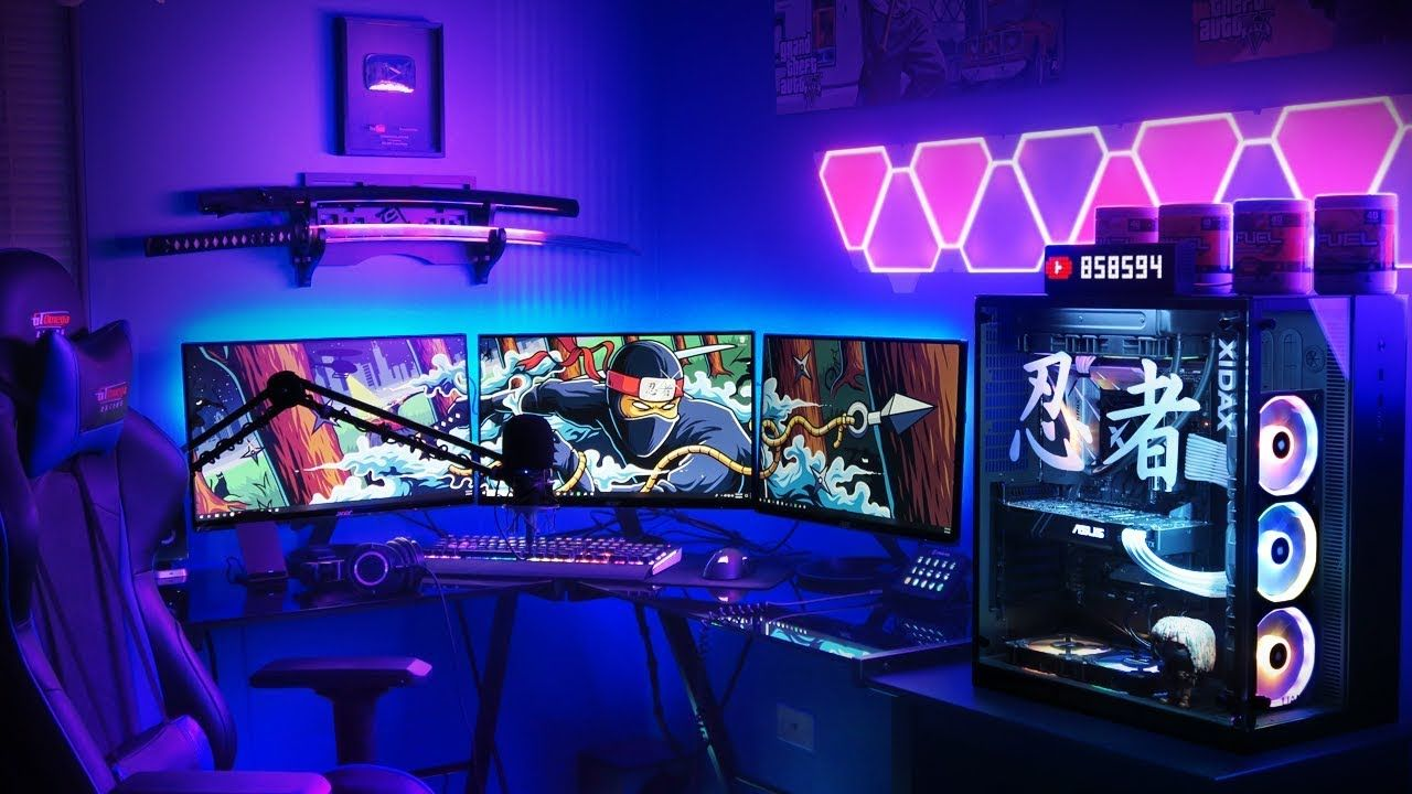 My Ninja Gaming Setup 11500 Crazy Videosmovies Telephone Line Wiring Group Picture Image By Tag Keywordpictures
