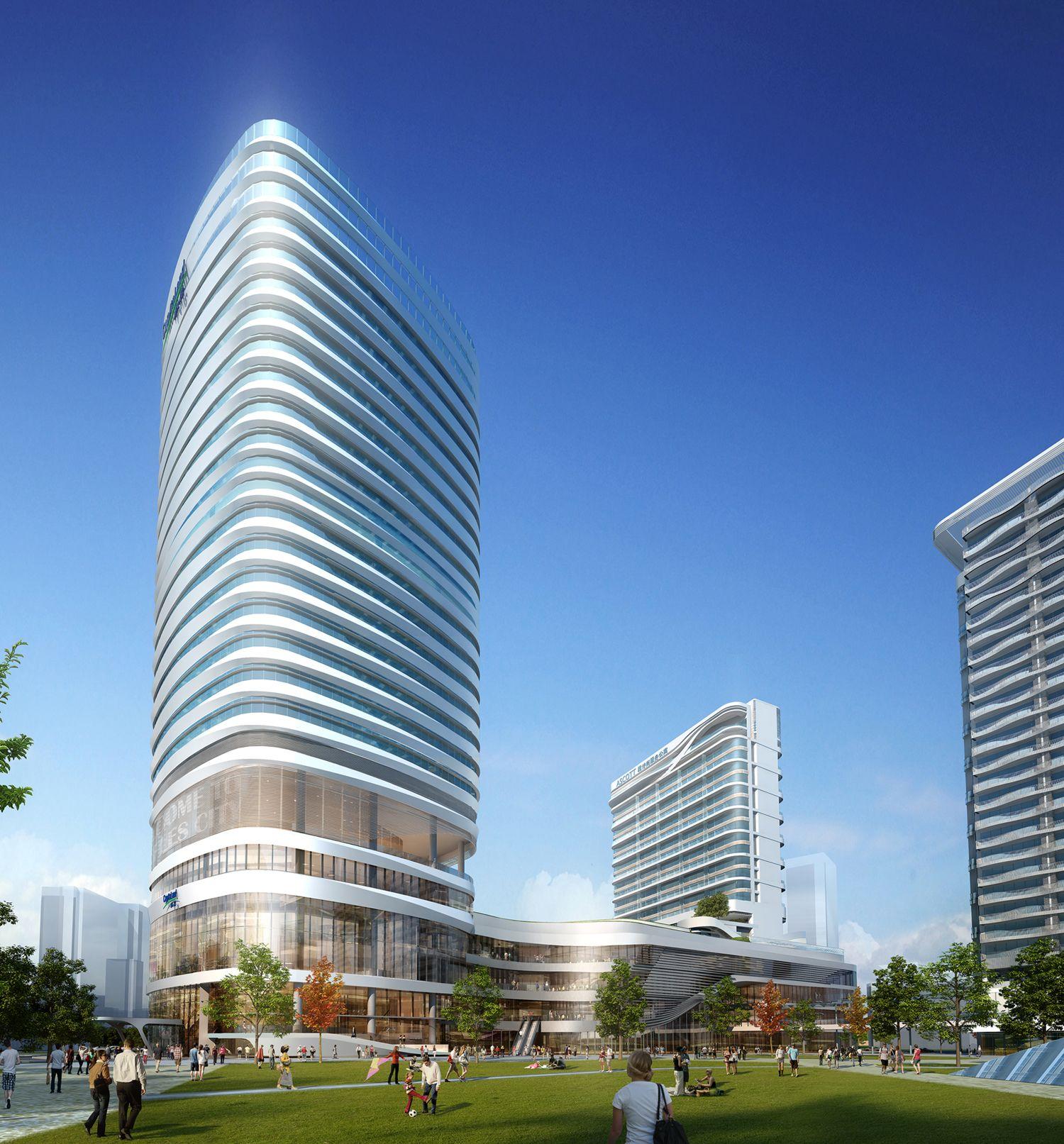 Raffles city shenzhen china shopping mall benoy futuristische architektur architektur - Futuristische architektur ...