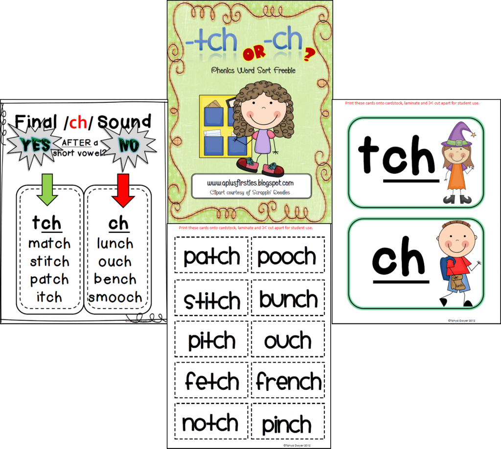 Worksheets List Of Words With Tch top 5 freebies of the week 11232013 paradise phonics and free tch ch sort 11