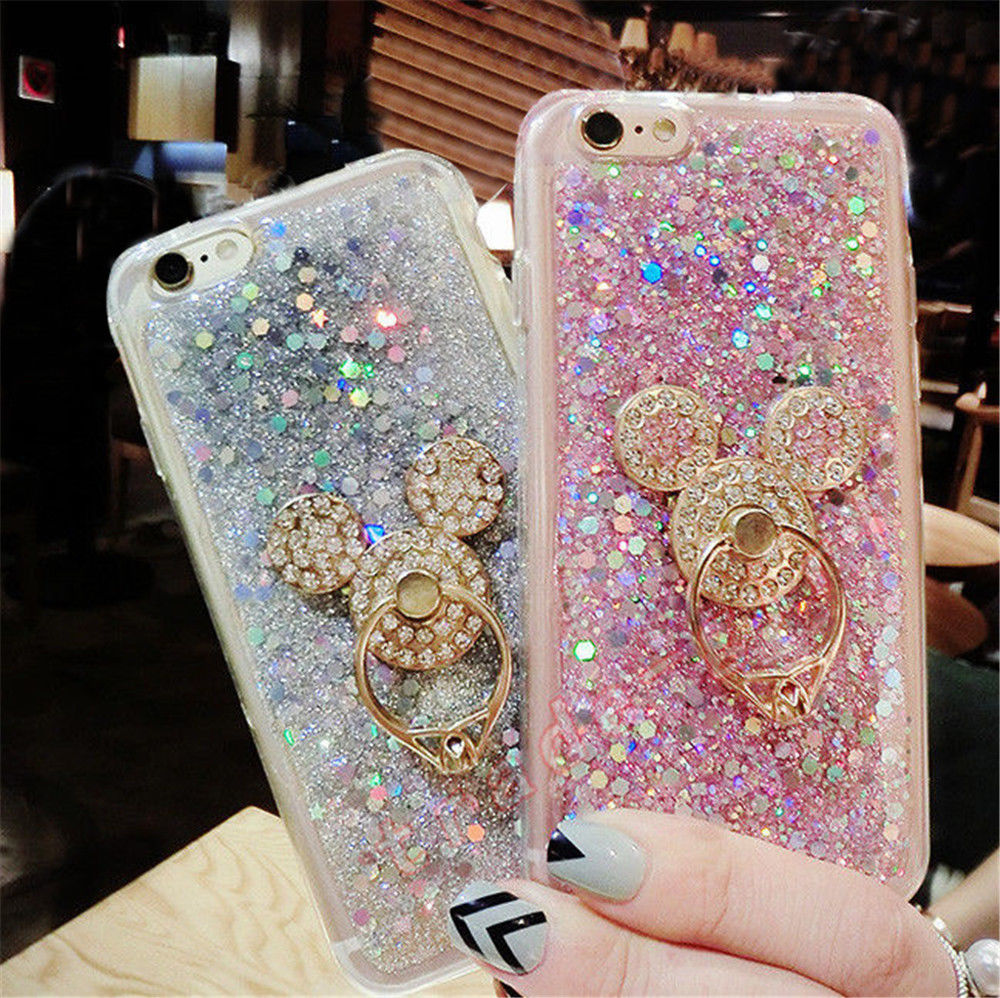 4 68 Cute Bling Diamond Ring Stand Glitter Sequins Soft Silicone Phone Case Cover Ebay Elec Glitter Iphone Case Glitter Phone Cases Phone Case Accessories