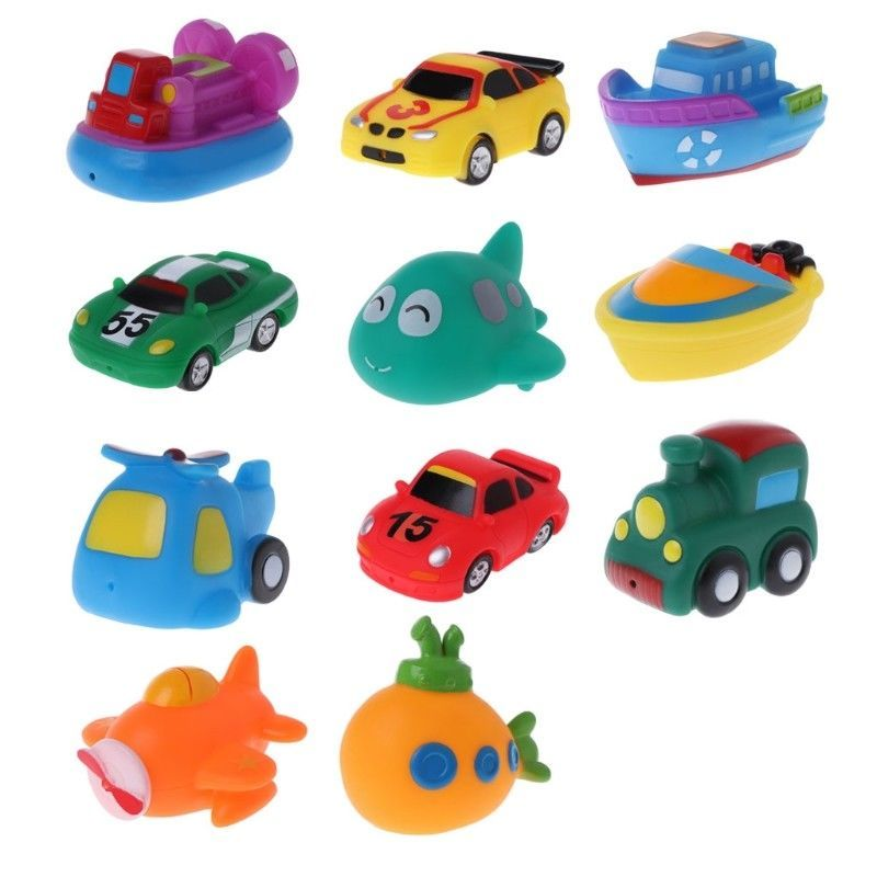 1 53 Baby Kids Toys Colorful Car Boat Soft Rubber Toys Swimming Pool Kids Water Spray Ebay Home Garden Baby Bath Toys Bath Toys Swim Toys