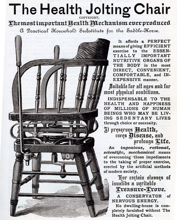 The Health Jolting Chair Weird Vintage Ad Via Dark Roasted Blend