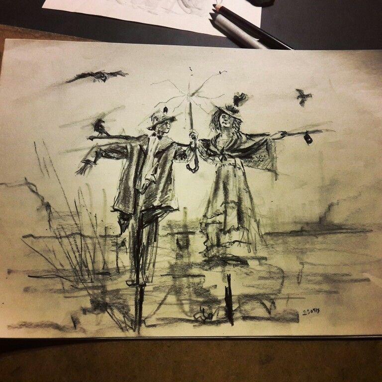 Jüst Rain.  Sketch, drawing