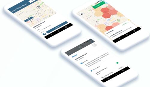 Postmates delivery app Interactive design, Delivery app