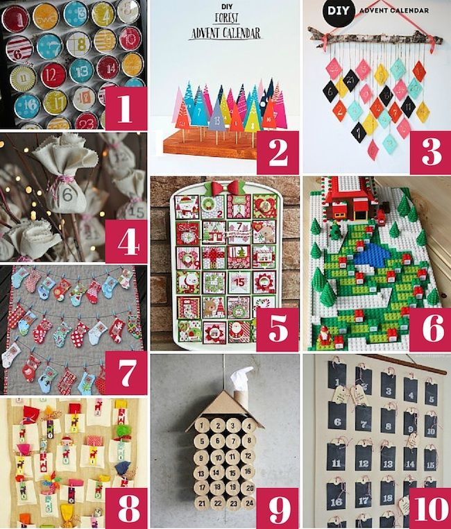 10 DIY Advent Calendars You Can Make At Home From Pinterest Advent