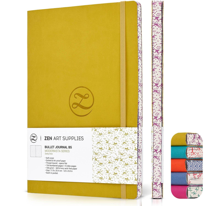 Zesty Lime B5 (7x10) 120gsm Dot Journal - us