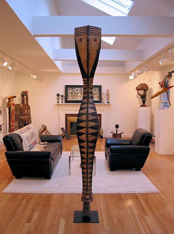dekoartikel in mitte des zimmer - afrikanische deko   Livingroom ...