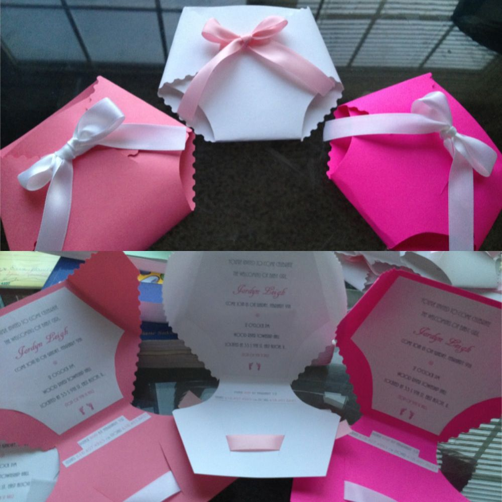 My homemade baby shower Invitations Cute and fun to make You can