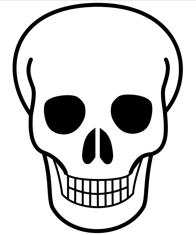 Sugar Skull Template Simple Sugar Skull Stencil Sugar skulls Pinterest