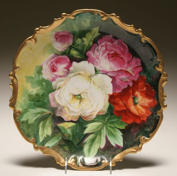 Image detail for -Limoges Coronet hand painted porcelain charger ...
