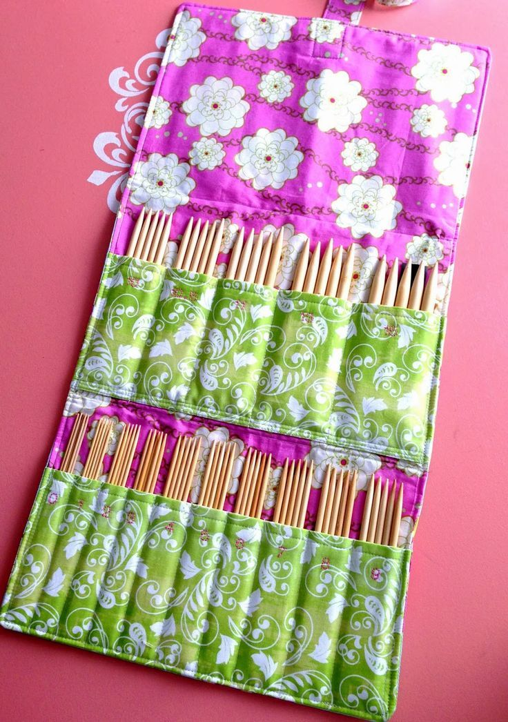 Show and Tell Meg: Final Project Of 2013 - DPN Knitting Needle Case ...
