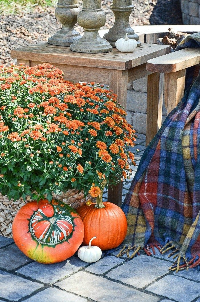OUTDOOR DECORATING WITH THE COLORS OF FALL Autumn  Fall