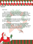 Christmas morning letter from santa about family printables christmas morning letter from santa about family spiritdancerdesigns