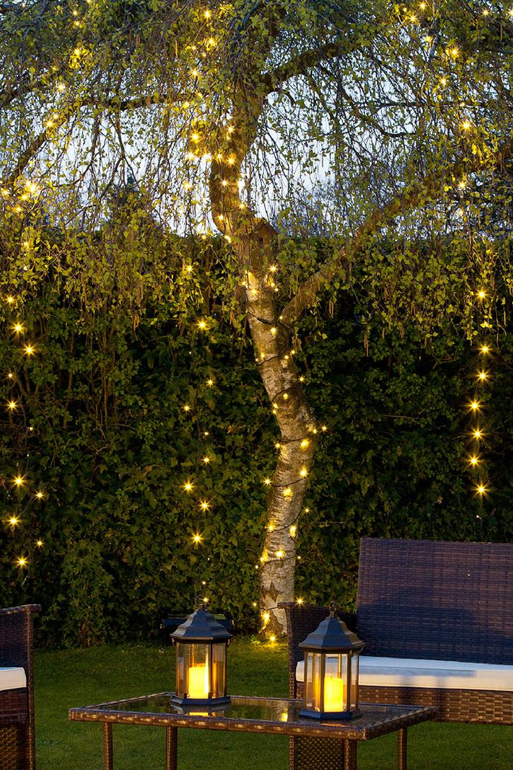 Pin On Fairy Lights Ideas Garden