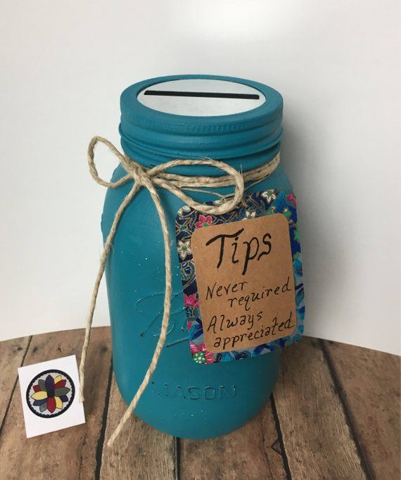 Tip Jar Spa Tip Jar Salon Tip Jar Bakery Tip Jar Ice Cream Shop Tip Jar 16 Colors Options Tip Jars Money Jars Jar