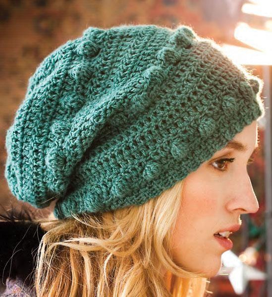 Crocheted Bobble Hat [VKCRO12_38] | Gorros, Tejido y Zapatillas de ...