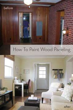 How To Paint Wood Paneling Paneling Makeover Wood Paneling
