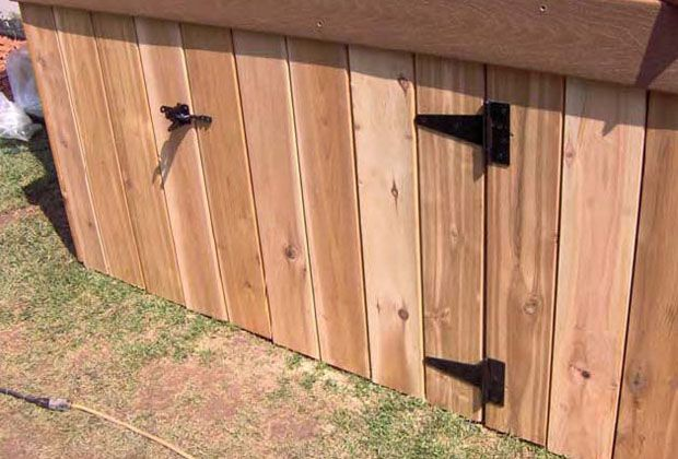deck skirt images | ... gate installed in a deck skirt to ... on a mobile home floor, a mobile home siding, a mobile home kitchen,