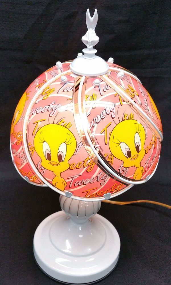 Tweety bird glass shade touch lamp tiffany inc aloadofball Image collections