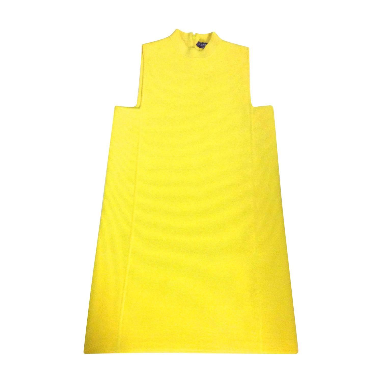 Ralph Lauren Sleeveless Yellow Mod Tunic Dress