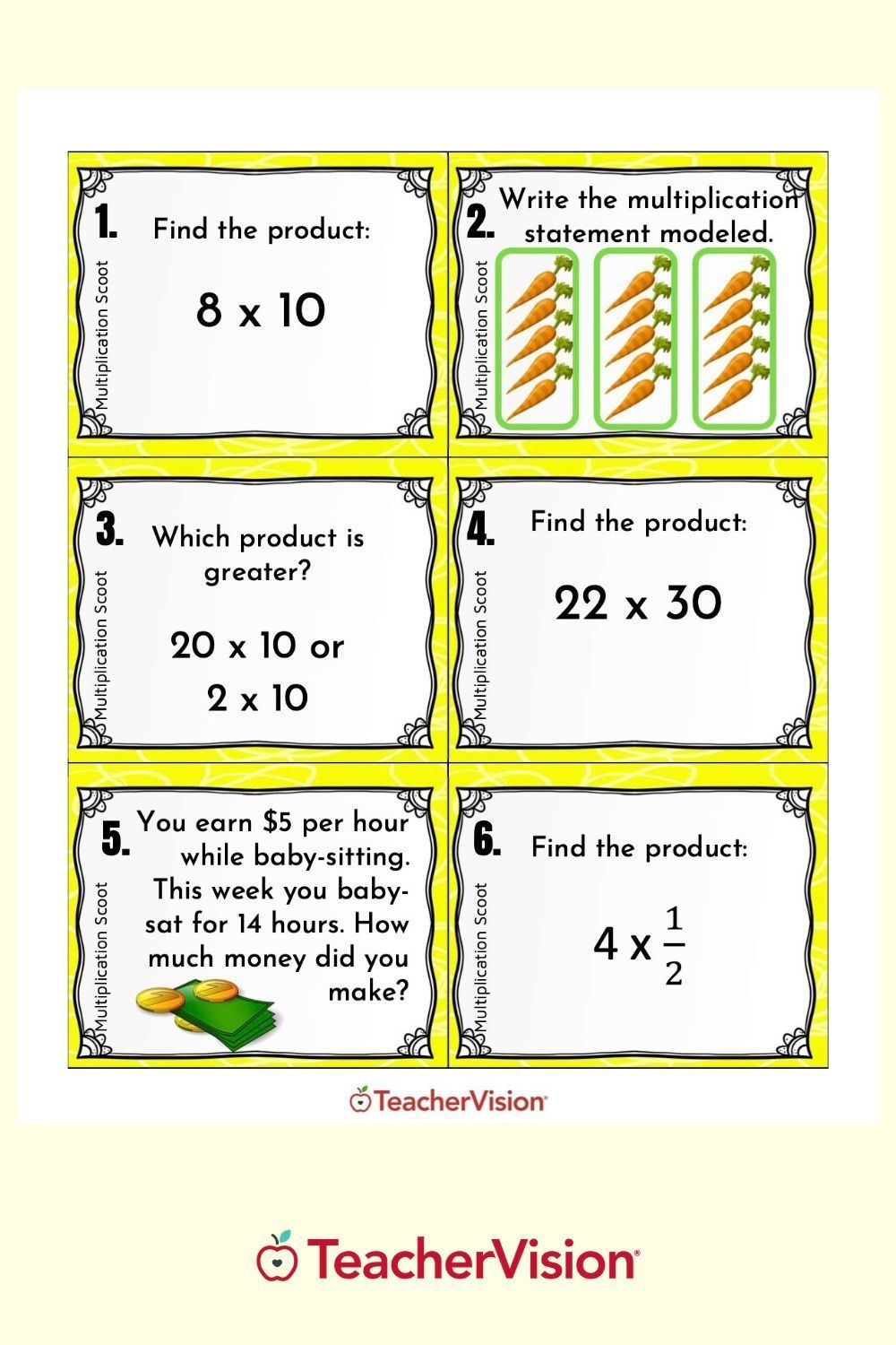 Multiplication Scoot Math Game For Classroom Or Remote Learning In 2021 Math Practice Worksheets Fun Math Activities Math Scoot [ 1500 x 1000 Pixel ]