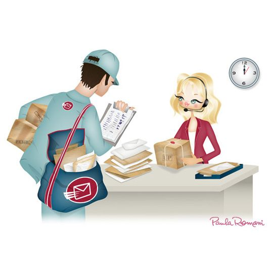 The secretary and the mailman