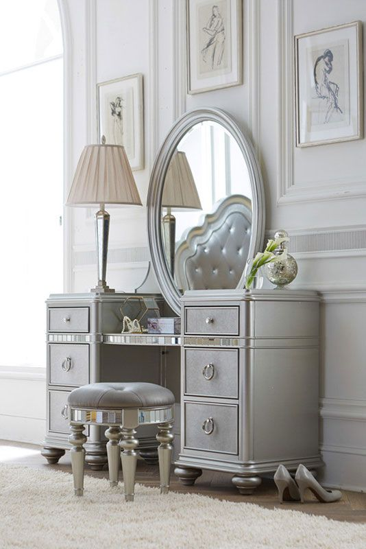 Let Our Havertys Brigitte Vanity With Mirror Make A Statement In