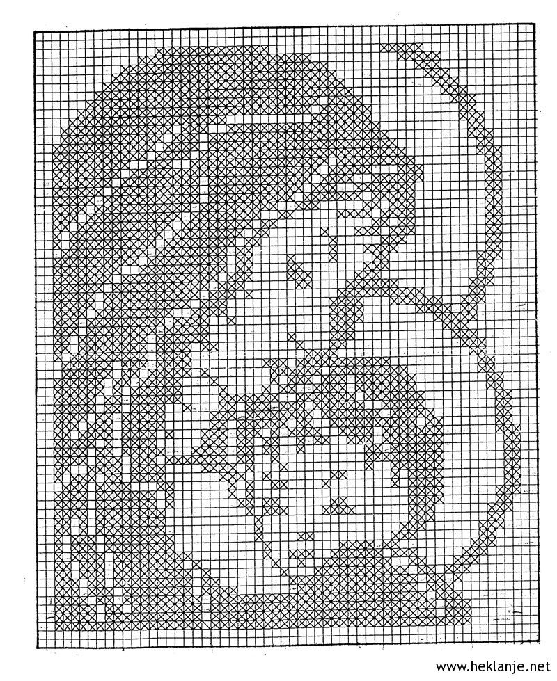 Nossa Senhora (pode ser crochet ou ponto de cruz) grafico