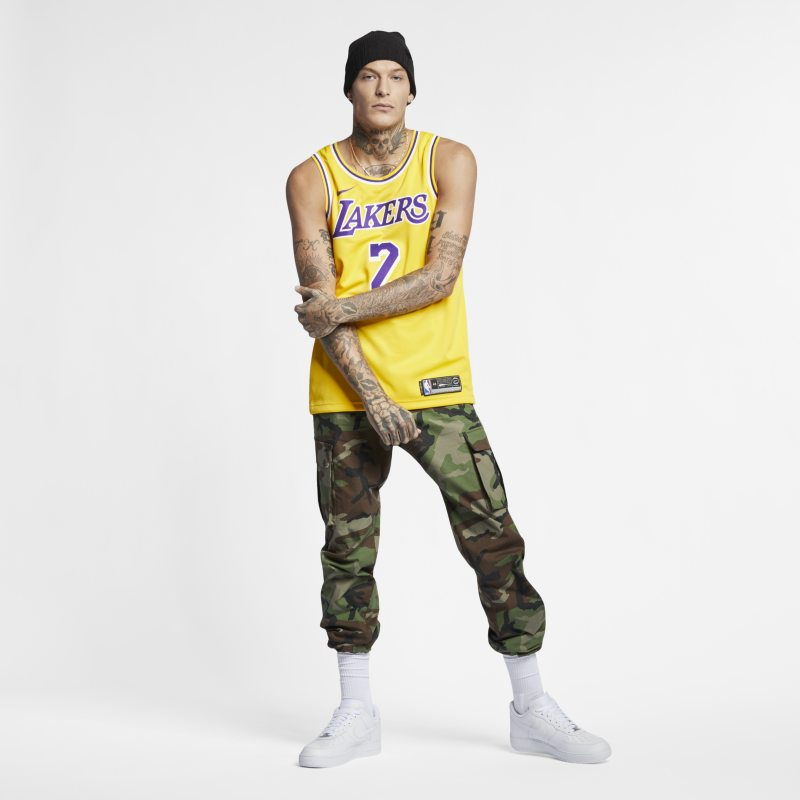 f29f48cc51f Lonzo Ball Icon Edition Swingman Jersey (Los Angeles Lakers) Men s Nike NBA  Connected Jersey - Yellow