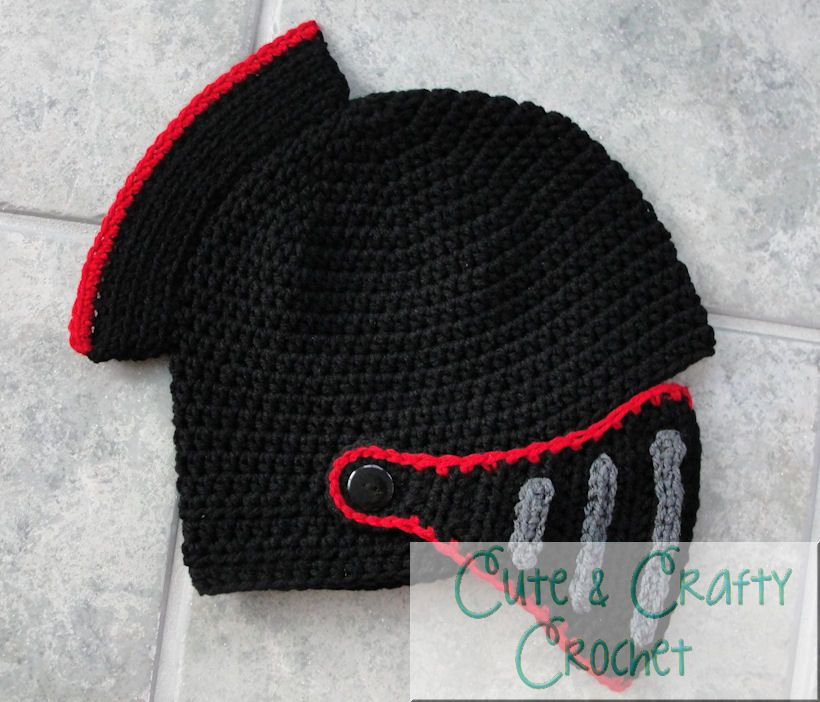 Crochet Pattern Pdf Sir Knight Helmet By Cutecraftycrochet Crochet
