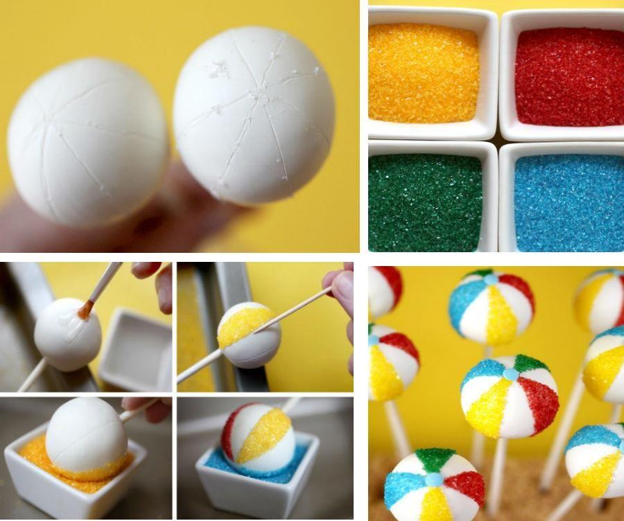 Beach Ball Cake Decorations Beach Ball #cakepops  More Cake Pops  Pinterest  Cakepops