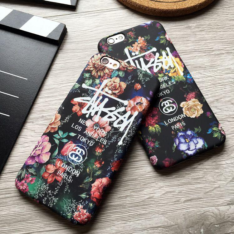 a88eaf3b5247 stussy花柄芸能人愛用おしゃれiphone7/7 Plus/6ケース アイフォン6sステューシーplusマット素材ハードケース男女クール携帯カバー