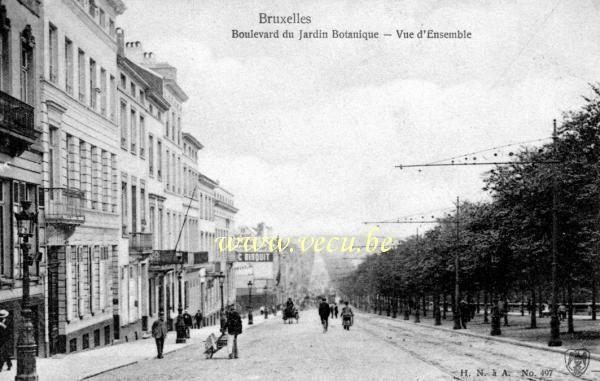 Ancienne carte postale de bruxelles boulevard du jardin for Boulevard du jardin botanique bruxelles