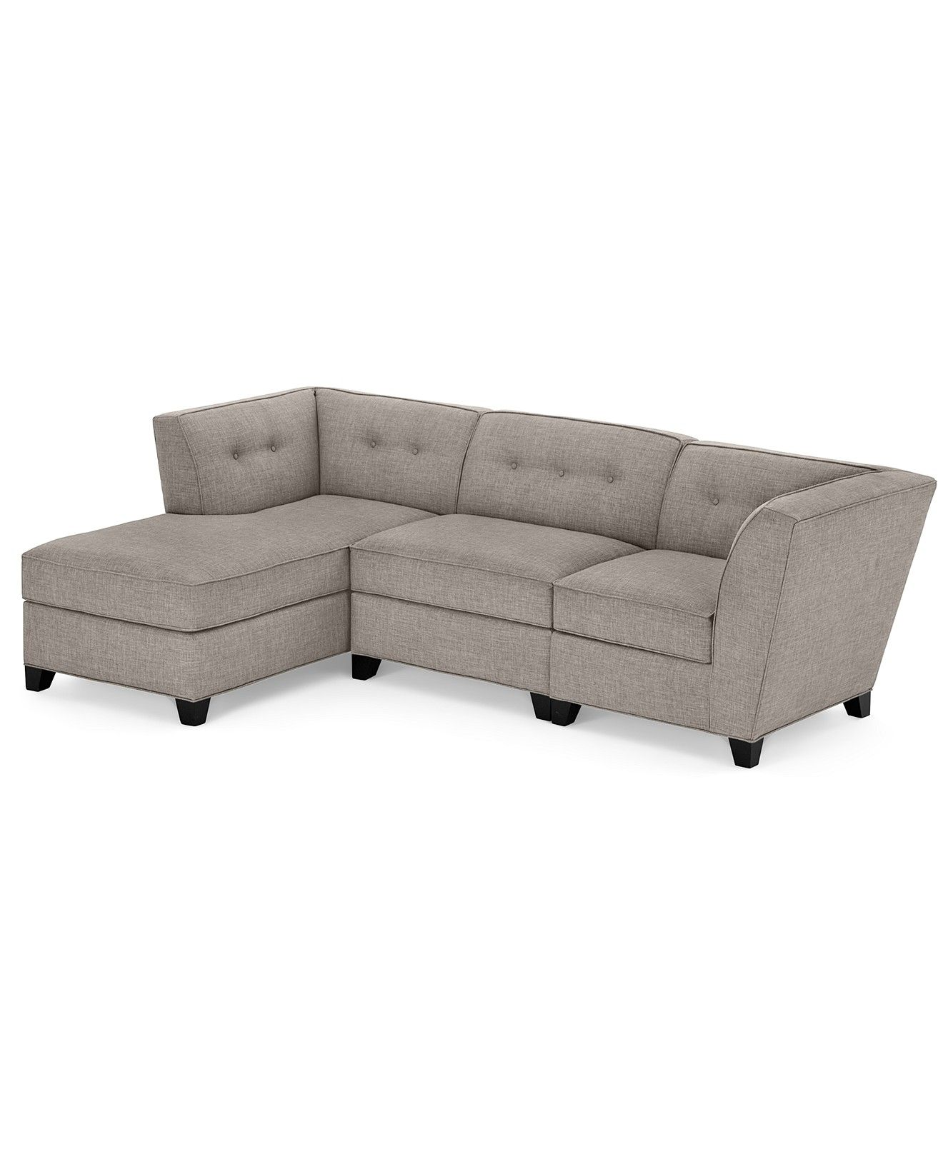 Harper Fabric 3 Piece Modular Sectional Sofa Sectional Sofas