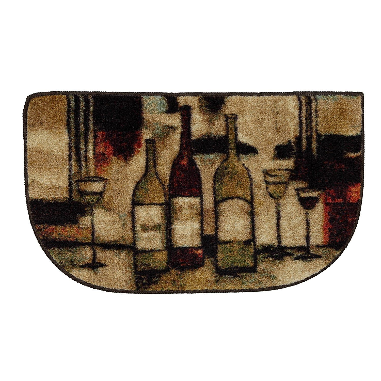 U x u slice home new wave wine and glasses themed brown area rug