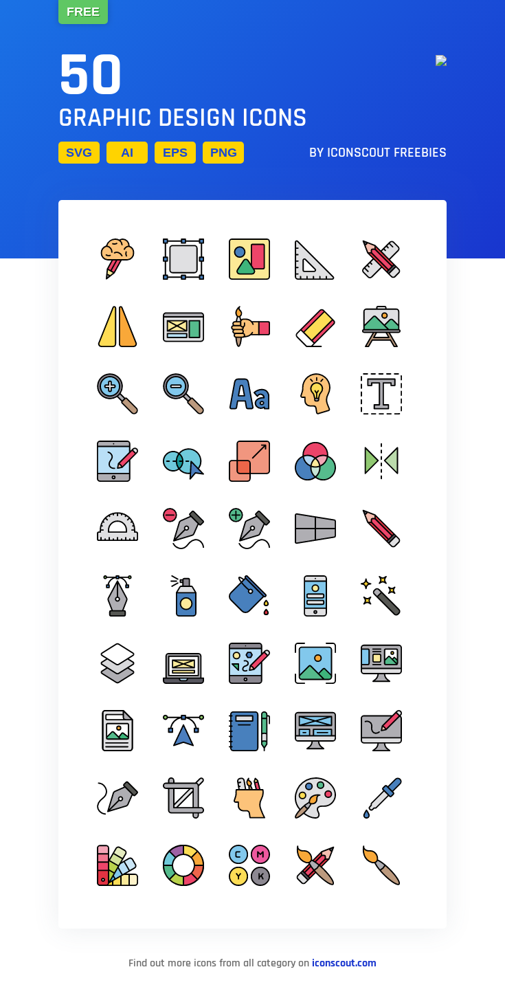 Download Graphic Design Icon Pack Available In Svg Png Eps Ai Icon Fonts Icon Design Free Graphic Design Graphic Design