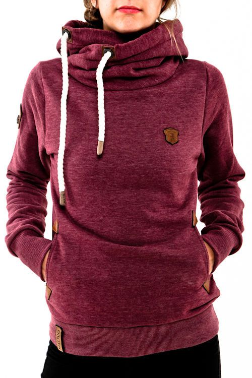 Naketano Darth IV bordeaux melange 1431 0204 Hoodie Kapuze