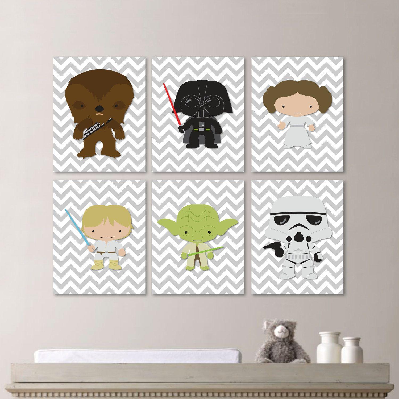 Star Wars Nursery Art Baby Boy Nursery by RhondavousDesigns2