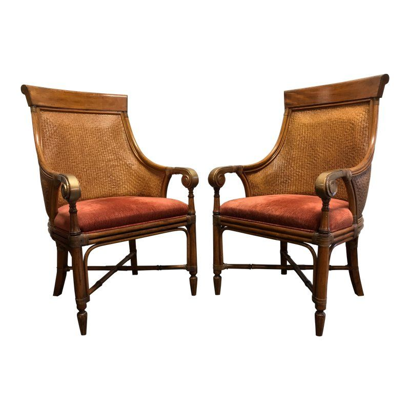 Faux Wicker Dining Chairs