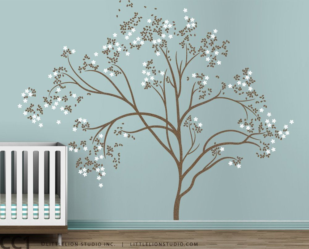 Beau Tree Wall Decal Blossom Tree Extra Large By LeoLittleLion On Etsy, $133.00