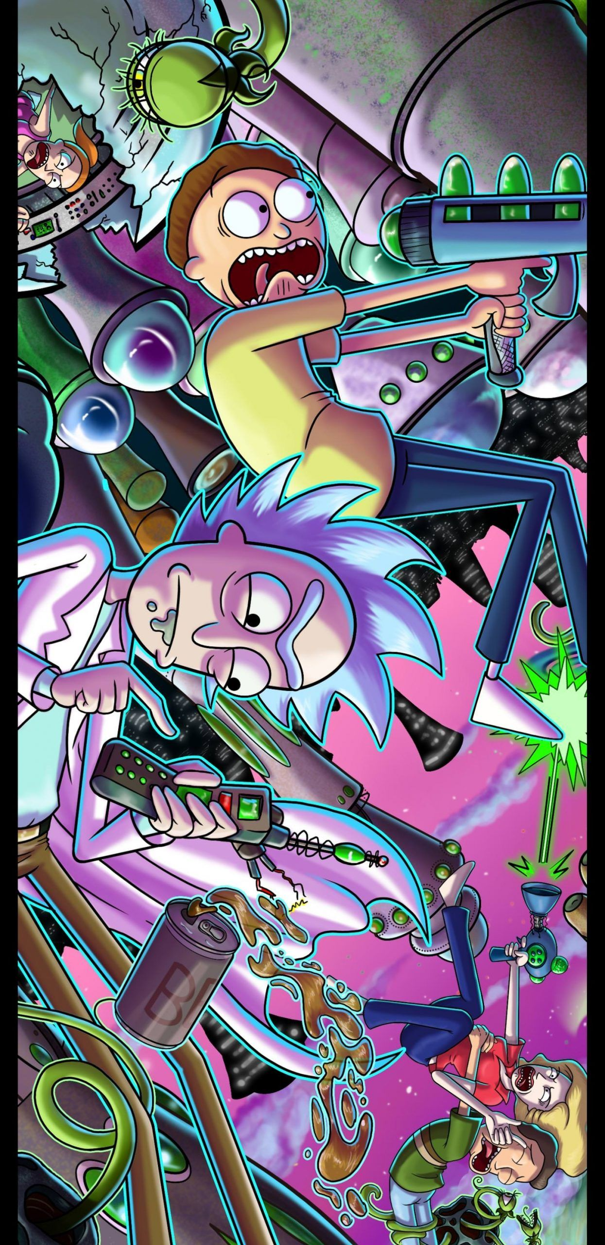 Rick And Morty Poster Phone Wallpaper Album On Imgur