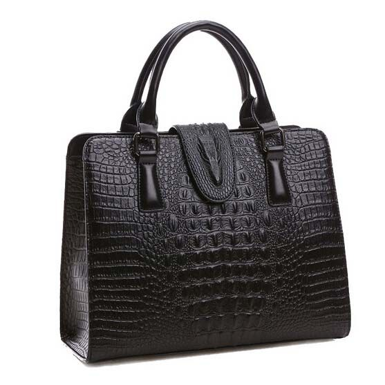High Quality Genuine Leather Bag Las Crocodile Pattern Women Messenger Bags Handbags Famous Brand Designer
