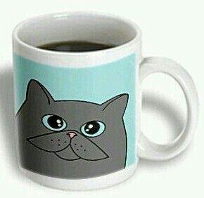 Taza Jarro Mug Gato Mugs Curious Cat Cat Mug