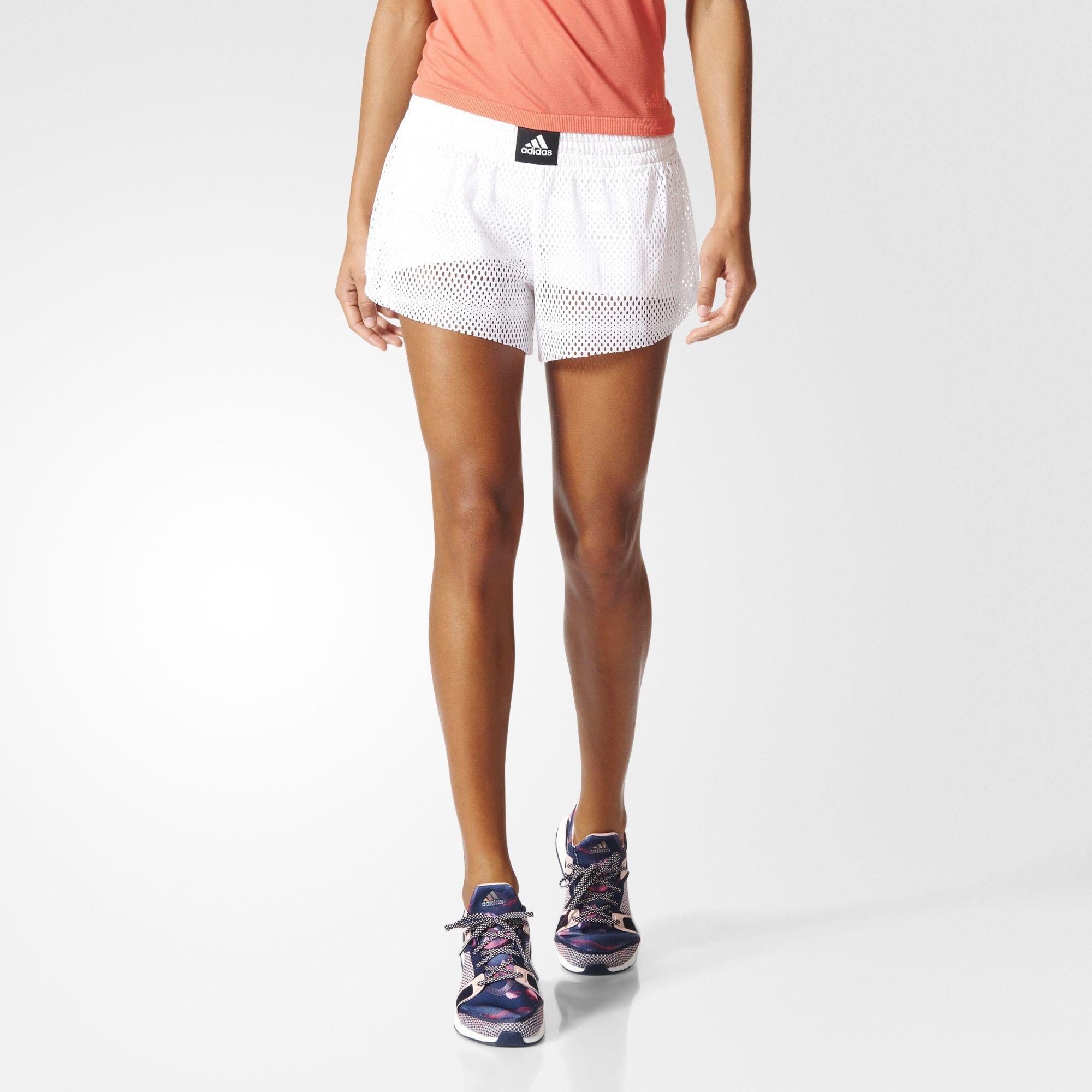 Adidas Two In One Mesh Shorts Pantalones Adidas Adidas Mujer Pantalones Cortos