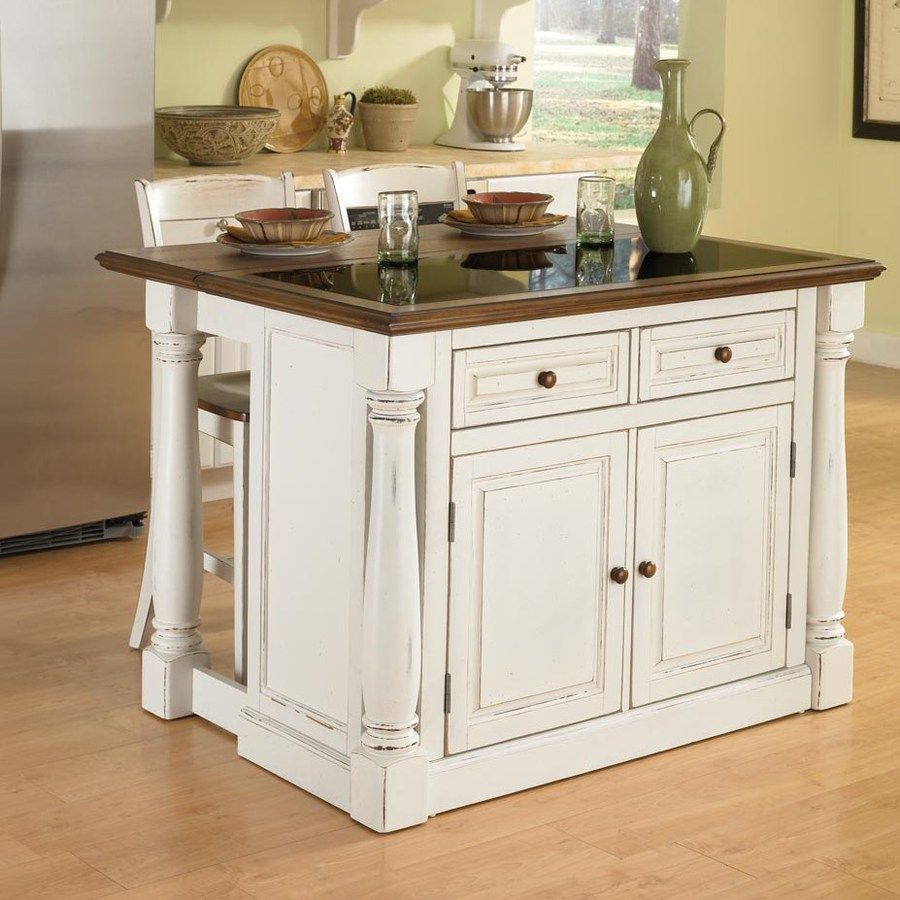 Home Styles 48 In L X 40 5 In W X 36 In H Distressed Antique White