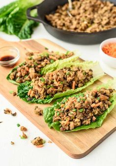 Vegetarian Lettuce Wraps that taste EXACTLY like the famous PF Changs lettuce wraps! All the same flavor for a fraction of the calories! @wellplated