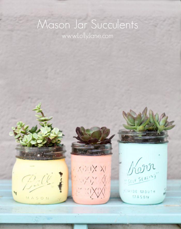 Diy mason jar succulent pots with free printable gift tags mason diy mason jar succulent pots with free printable gift tags negle Gallery
